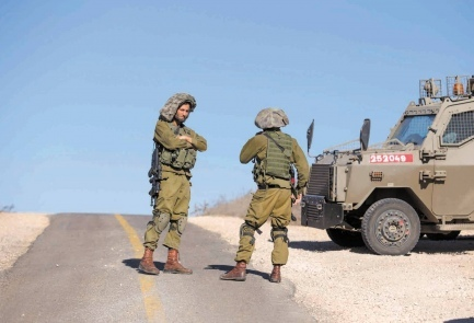 IDF troops at the Golan Heights, Wednesday